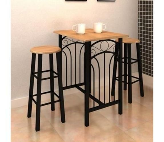 Black Breakfast Bar Stools Dining Table With Chairs Small Kitchen