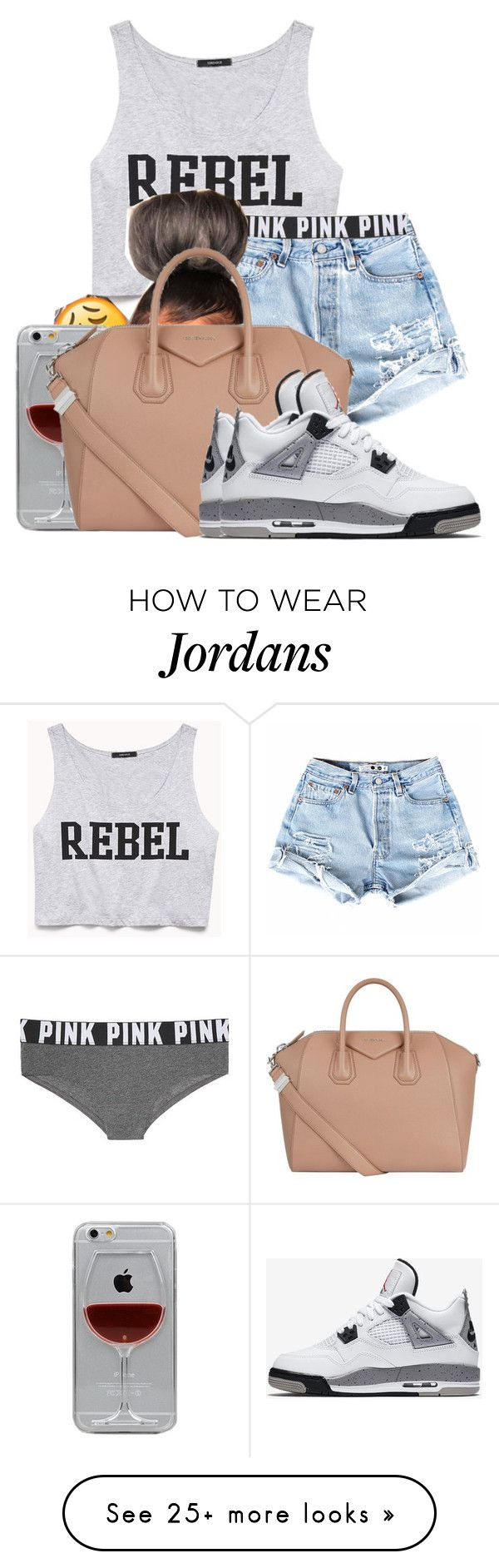 """""""Untitled #587"""" by sipping-gold on Polyvore featuring Forever 21, Victoria's Secret, Reyes, Givenchy, NIKE, jeanshorts, denimshorts and cutoffs"""