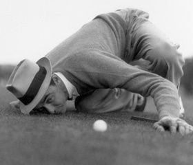 Sam Snead at The Master's., #golf, #SamSnead. I got to meet him at the country culb. Very nice man.
