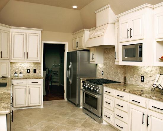 black kitchen cabinet pulls island with built in stove split face travertine backsplash | kitchen/house remodel ...