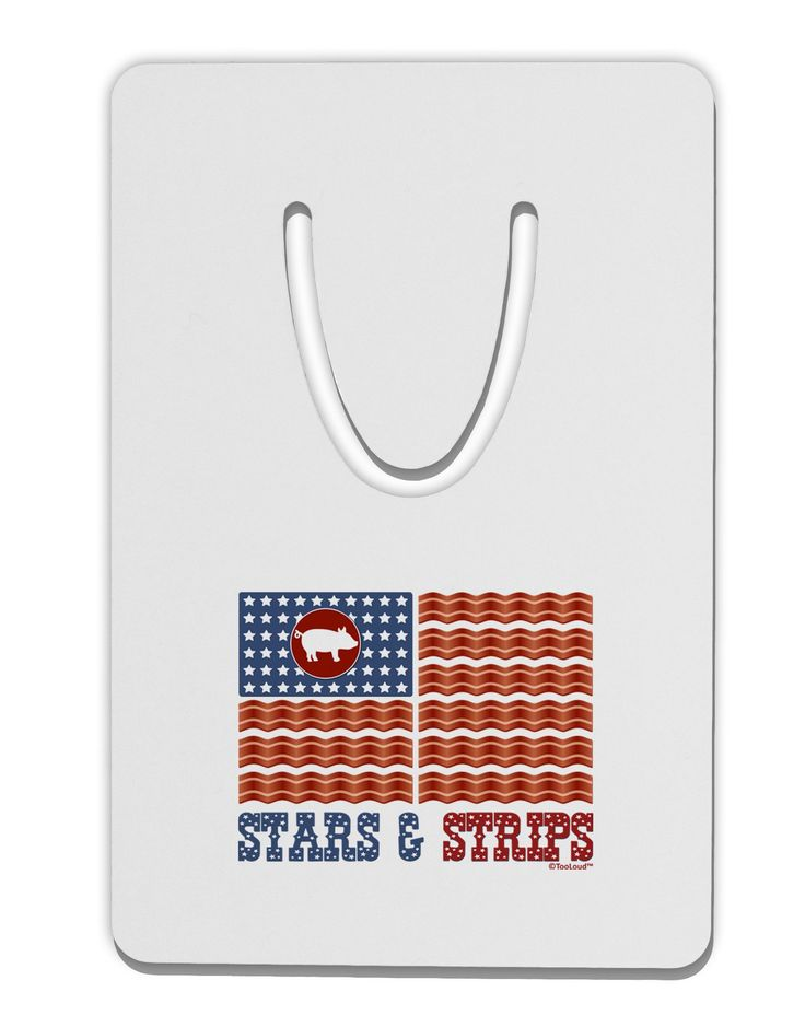 American Bacon Flag - Stars and Strips Aluminum Paper Clip Bookmark
