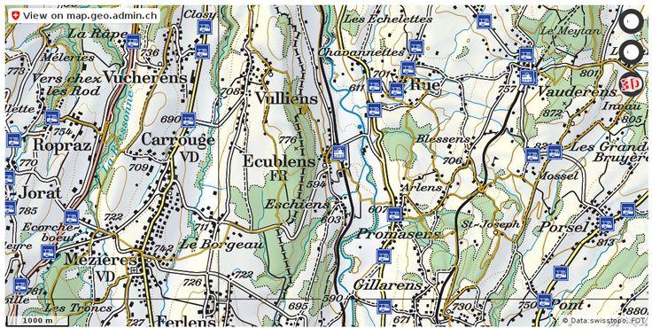 Ecublens (FR) Wanderwege Karte trail http://ift.tt/2z0Com9 #karten #gis