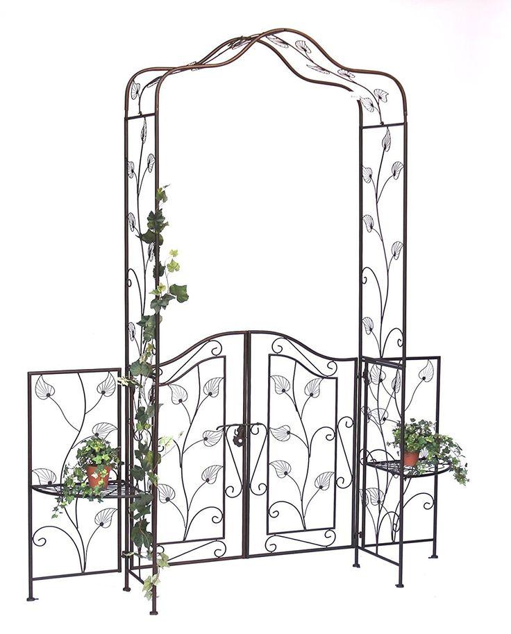 Arco di rose con porta Pforte 101759 in metallo Cancello da giardino 236x186cm Arrampicata-robusta: Amazon.it: Giardino e giardinaggio