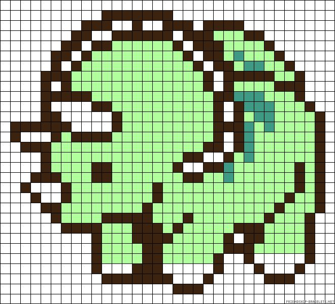 Triceratops hama perler bead pattern but can be used for cross stitch, plastic canvas or basic beading