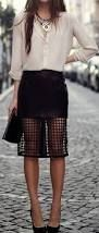 Image result for tight black skirt outfits