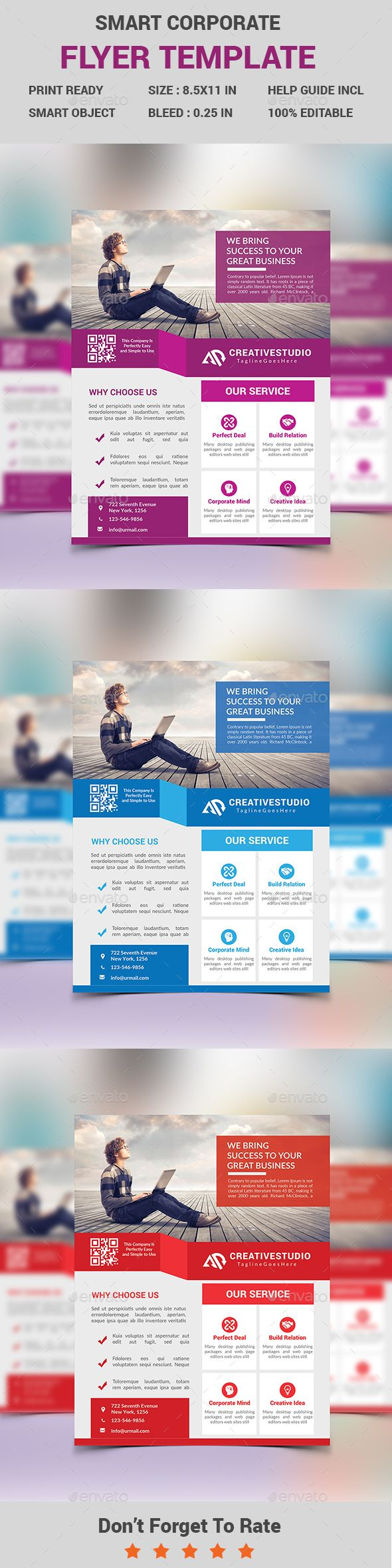 Smart Corporate Business Flyer Template PSD #design Download: http://graphicriver.net/item/smart-corporate-business-flyer/13966637?ref=ksioks