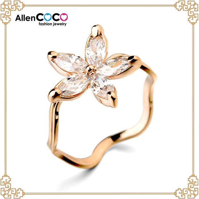 Ювелирные изделия циркон кольцо с формы-цветы кольцо из цена из 1 карат алмазов для женщин кольцо