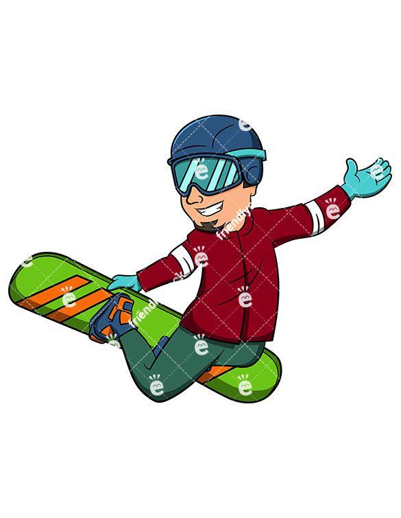 Man Performing Stalefish With Snowboard Cartoon Vector Clipart Friendlystock Cartoon Snowboard Snowboarding