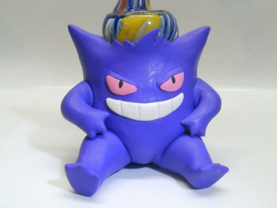 Custom Cute Gengar Pokemon Pipe by JimwillieMiniatures