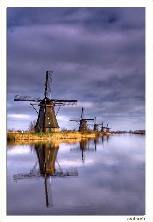 The Park of Windmills,  Kinderdijk, Netherlands