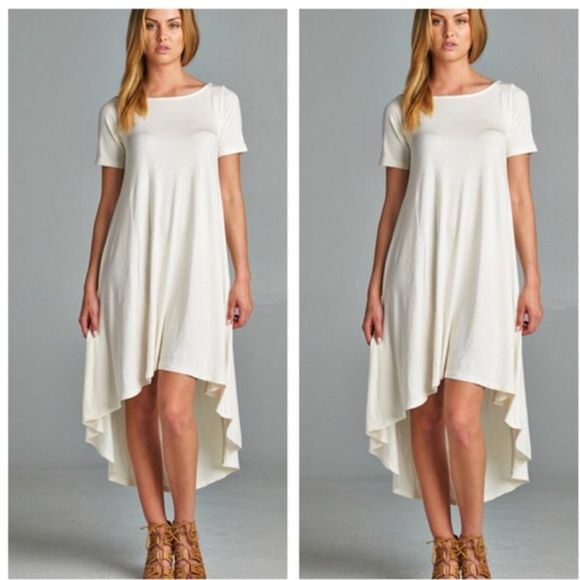 Asymmetrical dress High low chic asymmetrical dress PLEASE USE Poshmark new option you can purchase and it will give you the option to pick the size you want ( all sizes are available) BUNDLE And SAVE 10% ( sizes updated daily ) Dresses