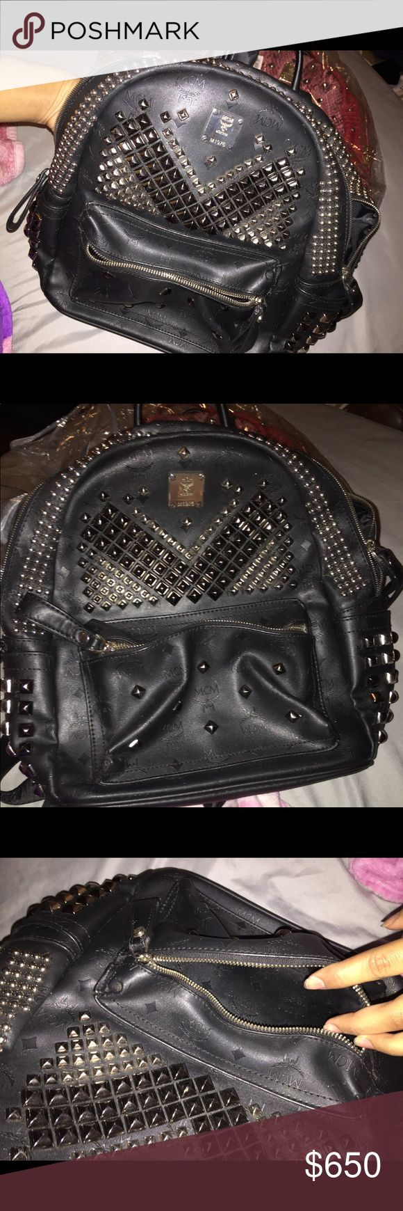 MCM STUDDED BACKPACK Semi-new/used a couple times! $650 or best price! I have another pink MCM BACKPACK. Bags Backpacks