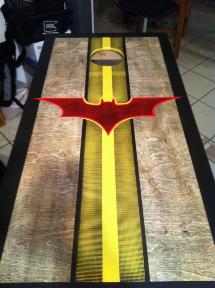 cornhole boards batman cornhole board design cornholeacecom - Cornhole Design Ideas