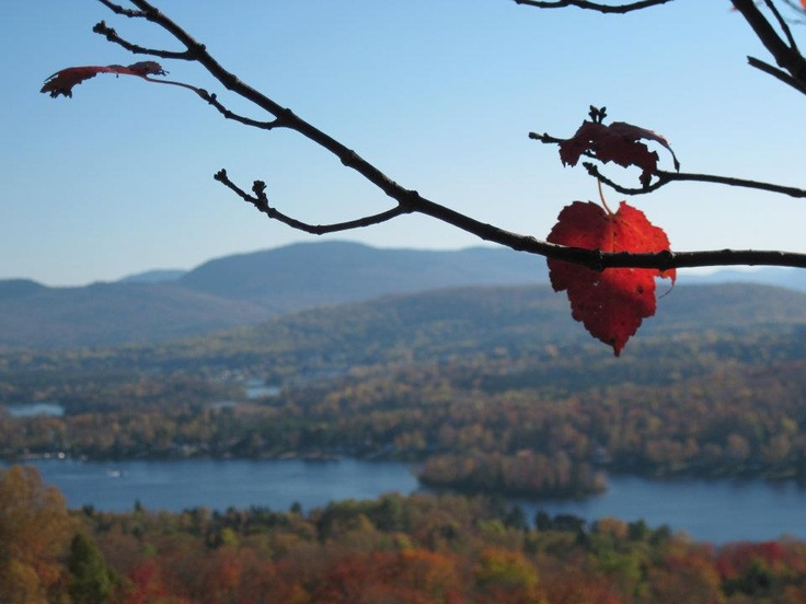 Fall scene in St. Donat, Canada.