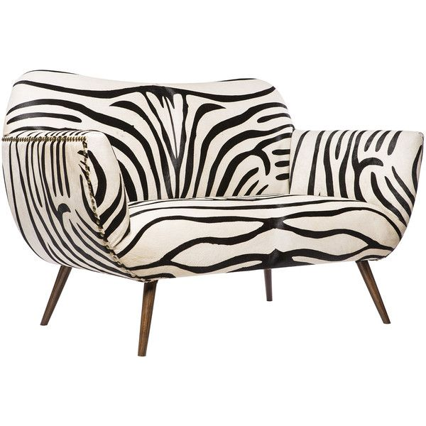 Emporium Home Zebra Settee featuring polyvore, home, furniture, sofas, black and white sofa, oversized couches, oversized furniture, zebra couch and oversized sofa