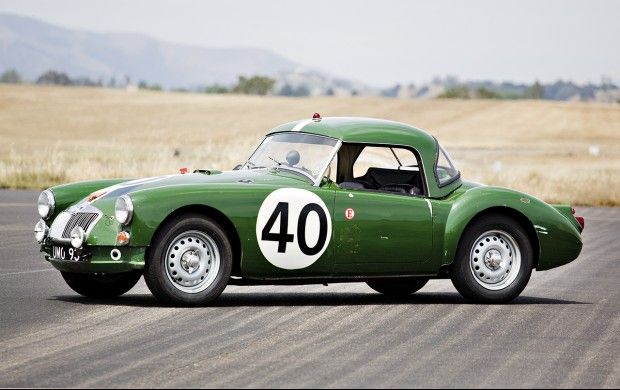 1960 MGA Twin-Cam Roadster One of Three 1960 MG Works Team Sebring Racers Factory-Prepared Race Car with Original Vanden Plas Hardtop Beautifully Preserved Original Car Presented in 1960 Sebring Livery