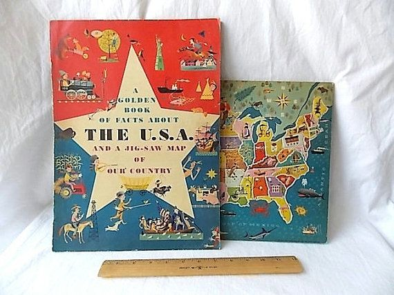 Best USA Map Images On Pinterest Illustrated Maps Jigsaw - Usa map jigsaw puzzle