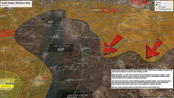 North #Aleppo Situation Map  05-10-2016 #Syria #Rebels & #Turkey vs #ISIS vs #SDF #EuphratesShield