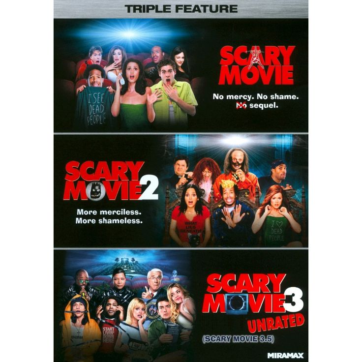 Scary Movie Triple Feature 3 Discs Dvd Scary Movie 1 Scary