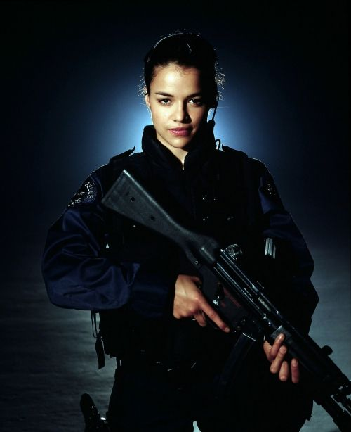 Michelle Rodriguez...absolutely love how she is so sexy and so kick butt!
