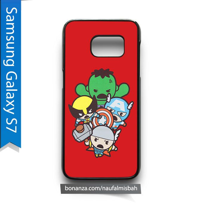 Cute Kawaii Thor Hulk Wolverine Marvel Samsung Galaxy S7 Case Cover