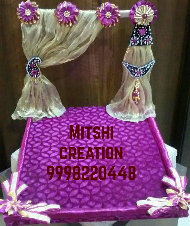 Decorative wedding tray for saree,dress,....etc.