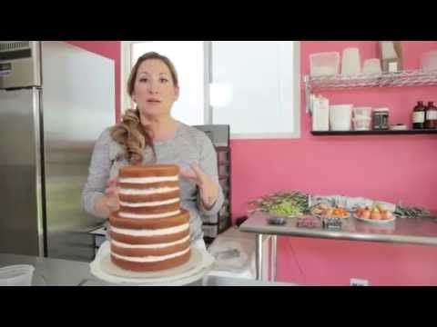 Icing & Assembling a Tiered Buttercream Cake - YouTube