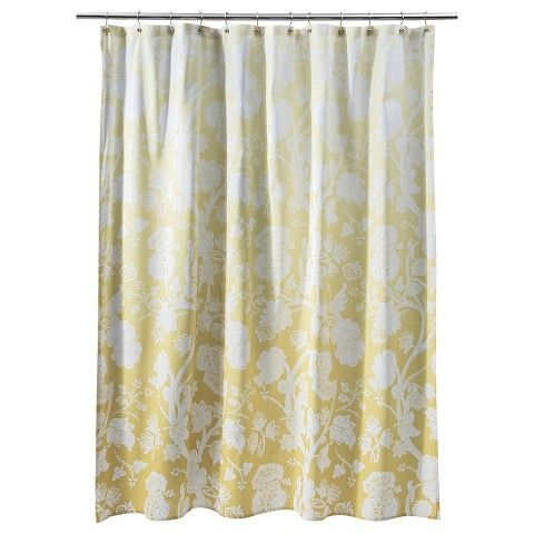 Threshold ™ Ombre Floral Shower Curtain - Yellow