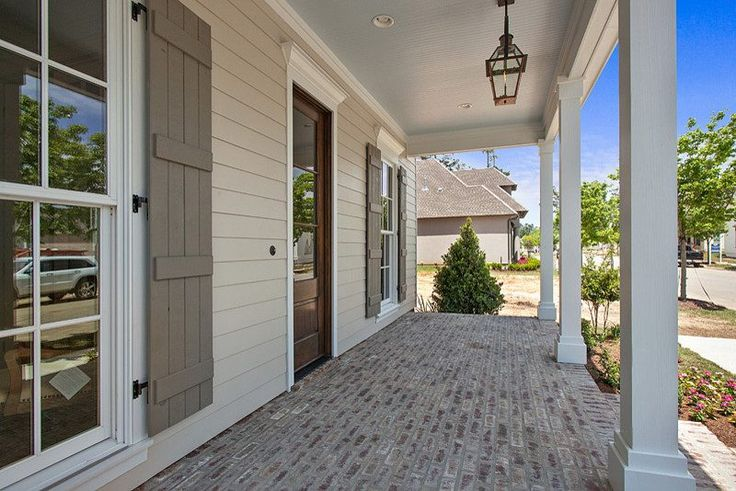James Hardie Cobblestone Porch Traditional With Wood