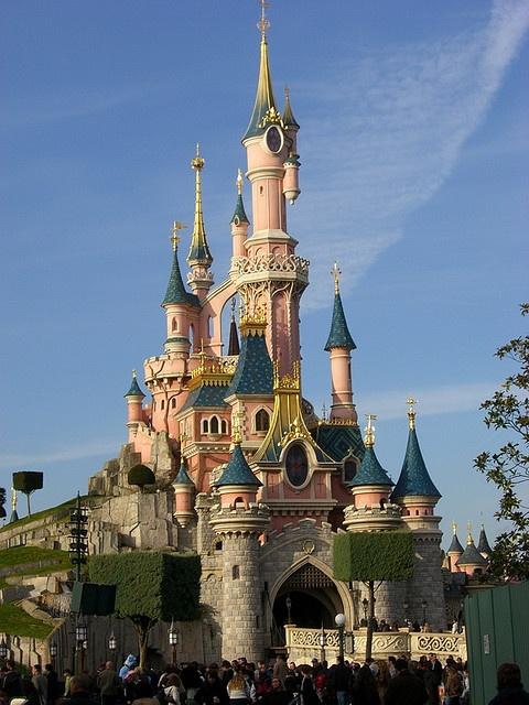 The Sleeping Beauty Castle in Paris Cisneyland, definitely the prettiest of the Disney Castles