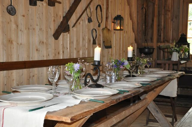 Summerparty in the barn