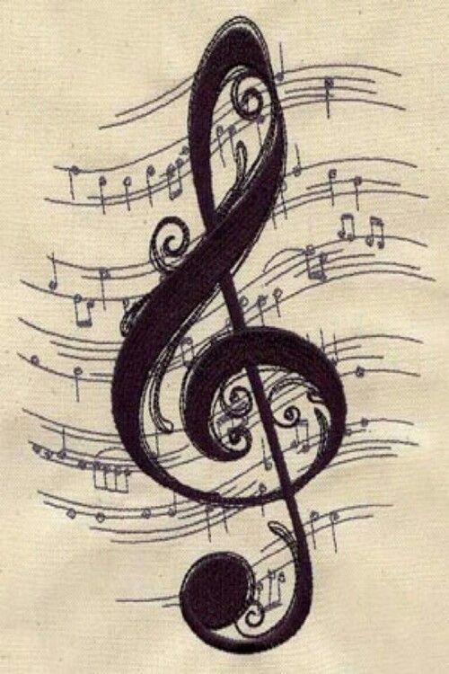 Картинка красивого скрипичного ключа