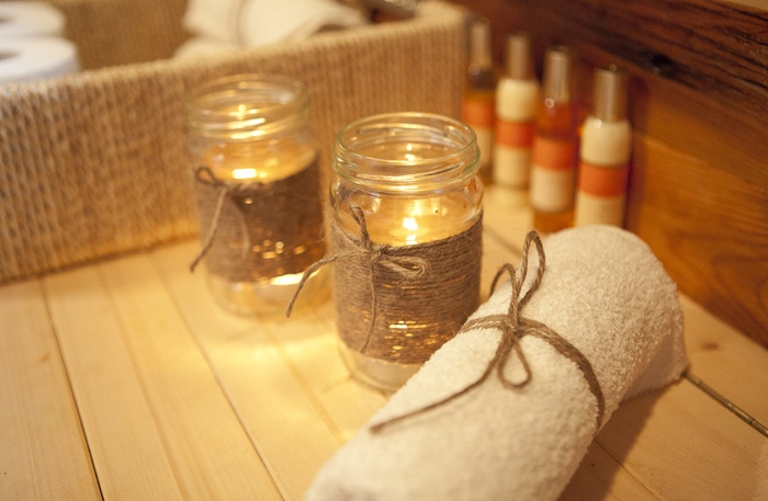 Great diy spa atmosphere for bathroom unique decor for Bathroom decor with candles