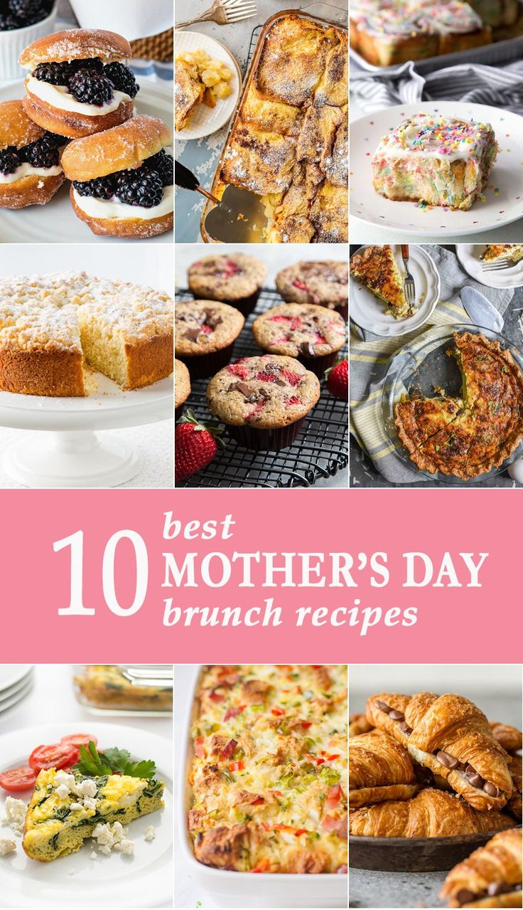 These 10 BEST MOTHER'S DAY BRUNCH RECIPES are easy for anyone to make, and will be sure to have Mom feeling special! It's time to spoil your mother on her day with breakfast in bed! via @beckygallhardin