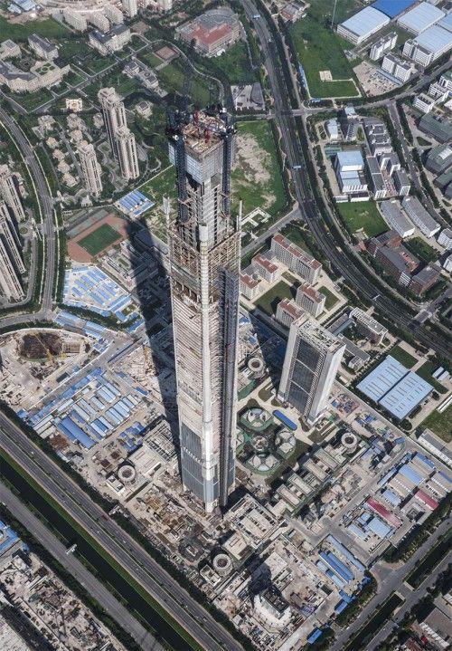 Construction on the Goldin Finance 117 (via Goldin Properties Holdings Limited)