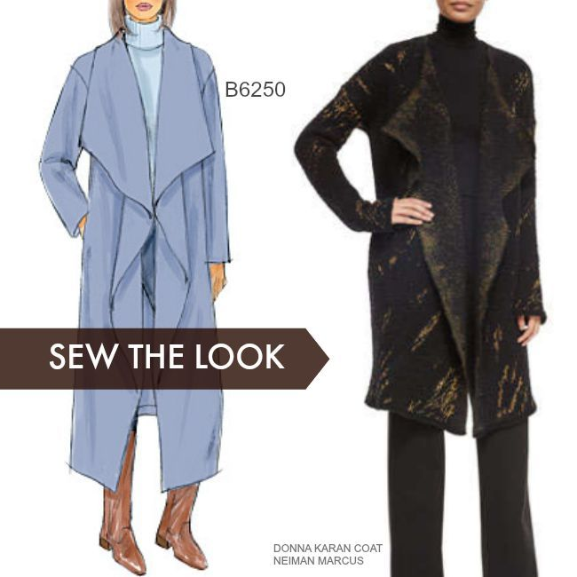 Sew the Look: Blanket coats are easy to sew and wear. This is Butterick B6250 sewing pattern.