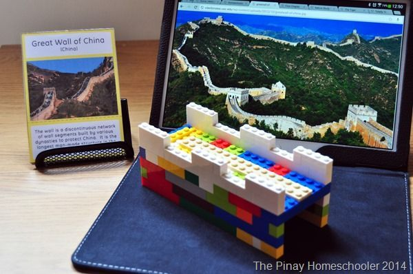 This is such a fun world geography project for kids learning about China - love this Lego Great wall of china
