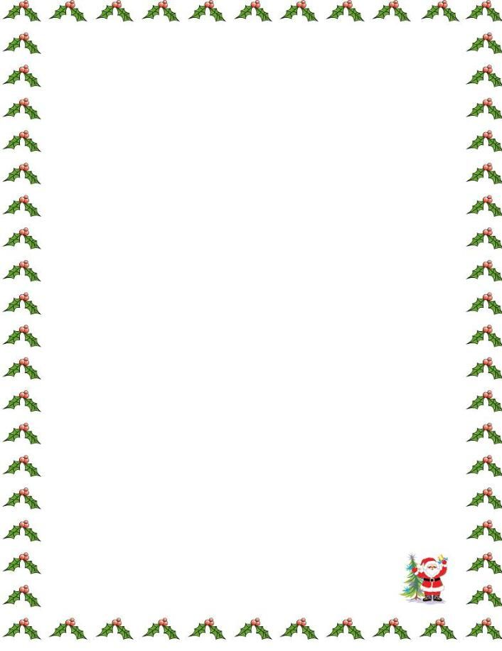 Free christmas letter border templates