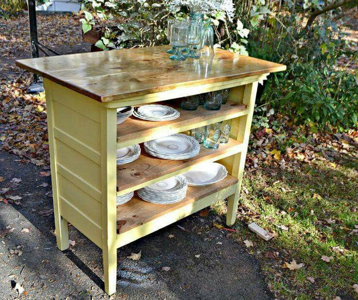 Kitchen Without Furniture: Dresser Kitchen Island, Kitchen Work Tables And