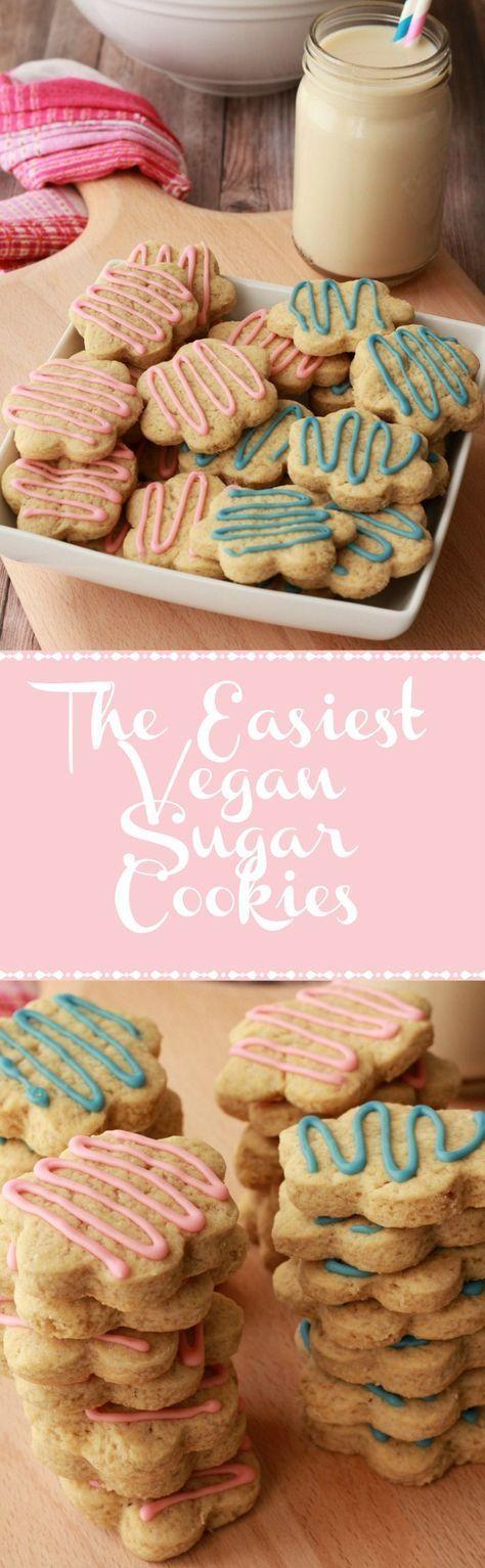 Super easy vegan sugar cookies. Perfect for any occasion! vegan | vegan dessert | vegan cookies | vegan food | Vegan recipes