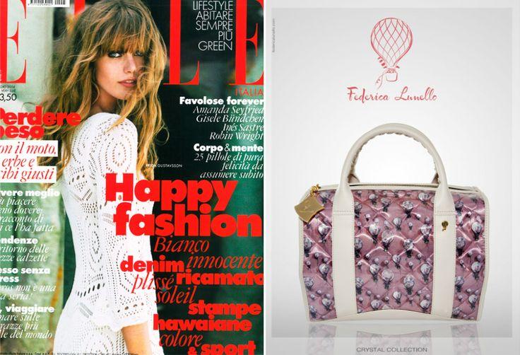 Elle May 2014 - ADV in Elle www.federicalunello.com #federicalunello #bags #accessories #madeinitaly #handmade