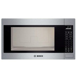 Bosch 500 Series Built-in Microwave:  For the price tag, you would want something unique, right? Well, you're going to get it. Along with doing all the basic and advanced functions of every microwave oven, the Bosch 500 Series Oven comes with 4x speed fan controls that can dramatically improve ventilation and remove all kinds of steams and fumes from the box.