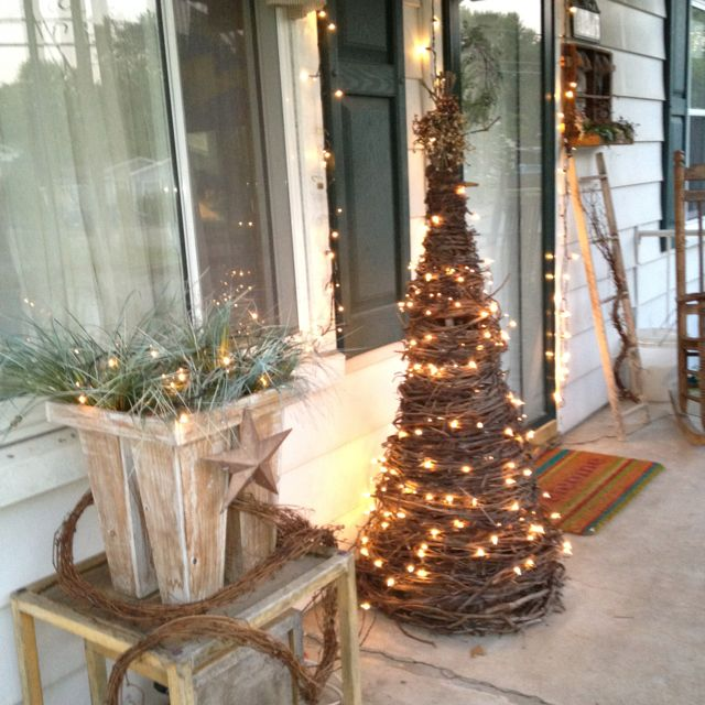 Outdoor Hanging Grape Lights: This Grape Vine Tree. I Want One On My Front Porch!!