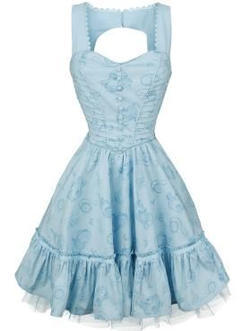 Through The Looking Glass - Alice Classic Dress - Mittellanges Kleid von Alice im Wunderland
