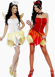 angel and devil  perfect bff costumes halloweeen pinterest