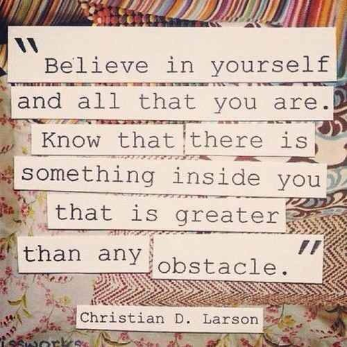 That's all you have to do. Believe. #TheDoulaGroup