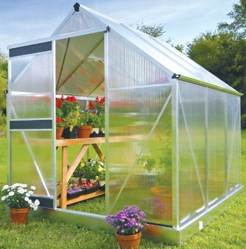 Juliana Greenhouse Basic 300 w/ Base by Juliana Greenhouses. $490.79. 2' wide sliding door with rollers. Panels diffuse sunlight, preventing plants from burning. 4mm, double wall unbreakable polycarbonate panels with UV coating to prevent break down over time. 1 roof vent window. Aluminum frame construction with gutters. Juliana Basic Greenhouse Series Incredible Value with Unmatched Quality This revolutionary design uses no silicone or clips to fasten the polycarbonate ...