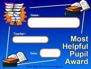 Most Helpful Pupil Award
