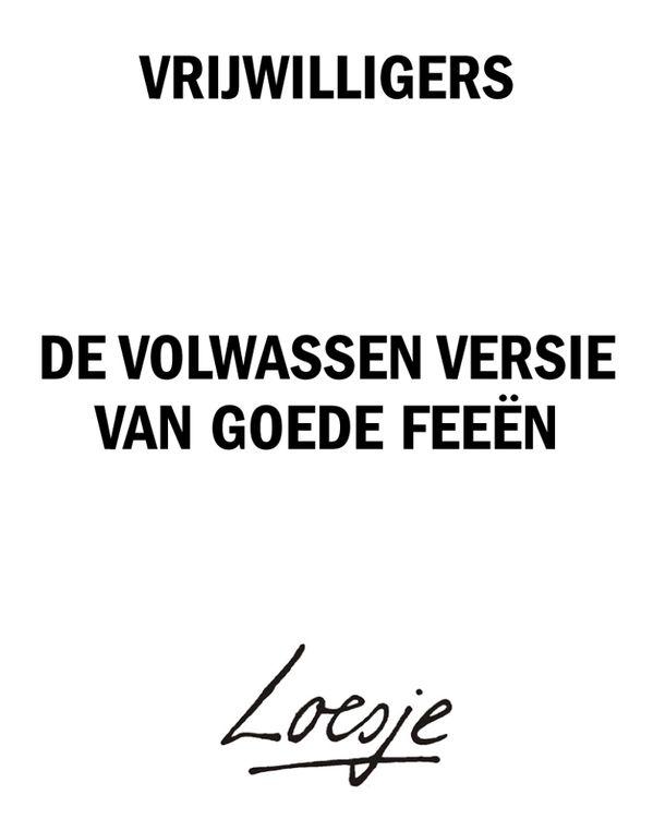 Vrijwilligers volgens Loesje