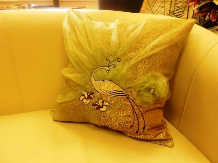 """Купить Декоративные подушки """"Райские птицы"""" - подушка, думочка, думка, текстиль для интерьера, райская птица"""